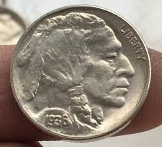 UNITED STATES Silver Coin 1935 BUFFALO