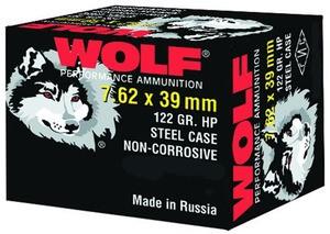 WOLF AMMO Ammunition 7.62X39 122 GR HP