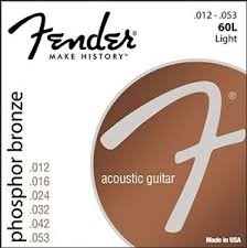 FENDER Musical Instruments Part/Accessory 60L ACOUSTIC GUITAR STRINGS