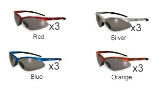 GLOBAL VISION EYEWEAR Sunglasses/SAFETY FAST FREDDIE CF SM