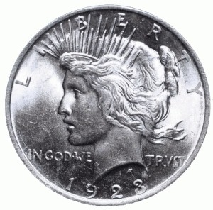 UNITED STATES Silver Coin 1923 PEACE DOLLAR