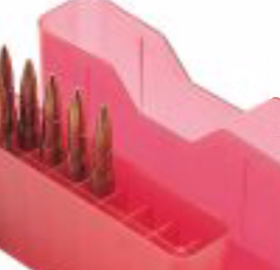 MTM CASE GUARD Accessories LARGE RIFLE AMMO CONTAINER - 20 ROUND - RED
