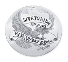 CUSTOM CHROME Motorcycle Part 19005 LIVE TO RIDE DERBY COVER IN CHROME
