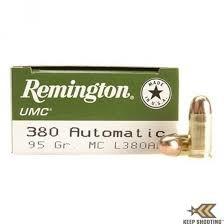 REMINGTON FIREARMS & AMMO Ammunition 380 AUTOMATIC 95GR