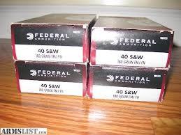 FEDERAL AMMUNITION Ammunition 40 S&W 180FMJ