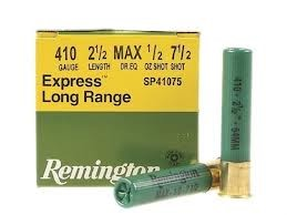 "REMINGTON FIREARMS & AMMO Ammunition EXPRESS LONG RANGE .410 2 1/2"" #7 1/2 SHOT"
