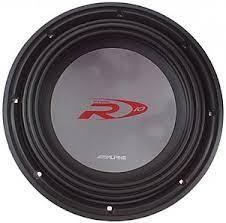 ALPINE Speakers/Subwoofer TYPE R12 INCH SUB W/BOX