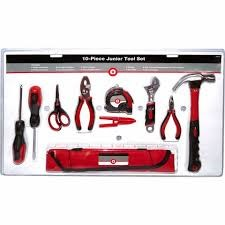 TRACTOR SUPPLY COMPANY Mixed Tool Box/Set 10 PIECE JUNIOR TOOL SET