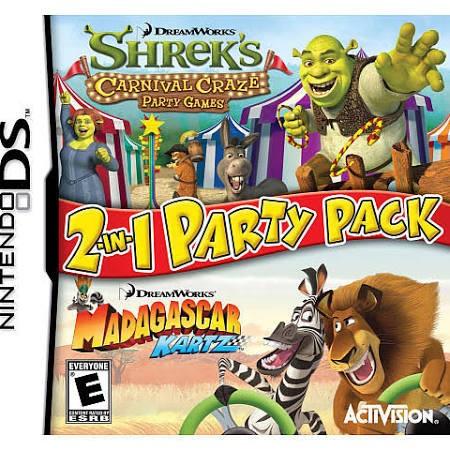 NINTENDO Nintendo DS Game SHREK CARNIVAL CRAZE MADAGASCAR KARTZ 2 IN 1