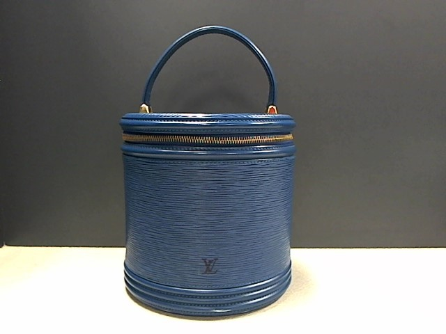 Louis Vuitton Cannes Blue Epi Leather Vanity Cosmetic Bag
