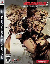 SONY Sony PlayStation 3 Game METAL GEAR SOLID 4 LIMITED EDITION