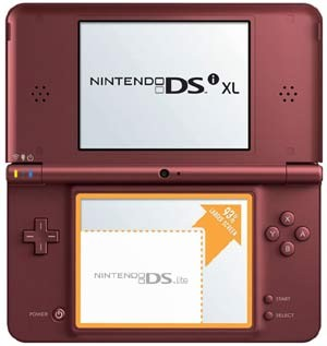 NINTENDO Video Game System DSI XL - HANDHELD GAME CONSOLE