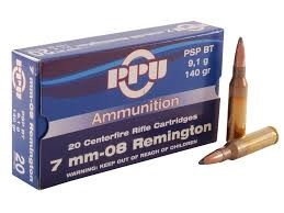 PPU AMMUNITION Ammunition 7MM-08 REMINGTON