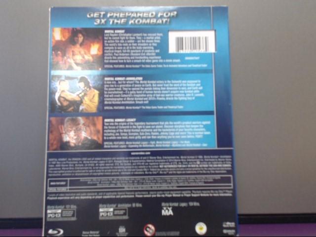 BLU-RAY MOVIE Blu-Ray MORTAL KOMBAT-TRIPLE FEATURE