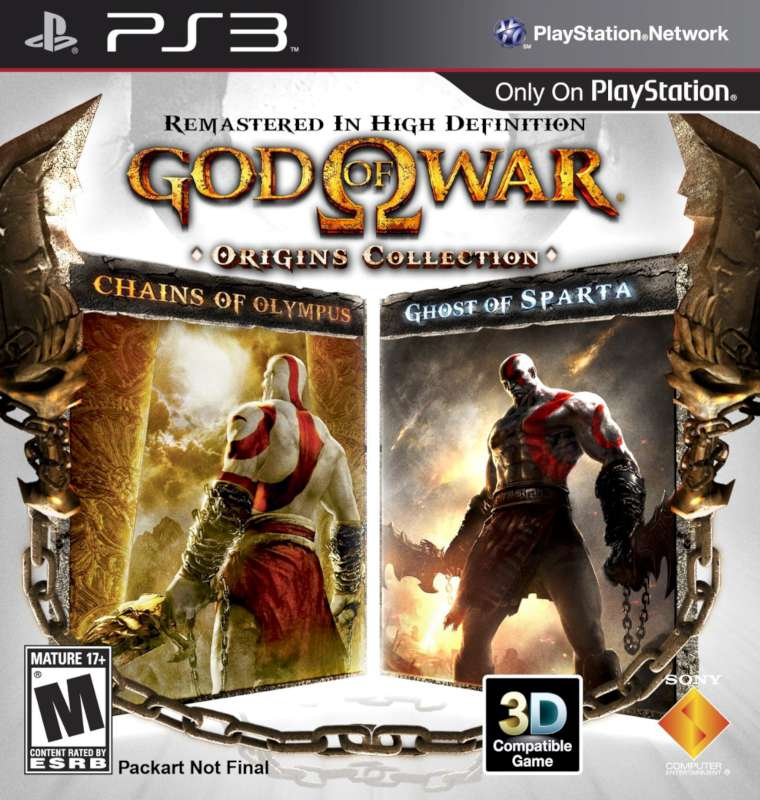SONY Sony PlayStation 3 Game GODS OF WAR - ORIGINS COLLECTION