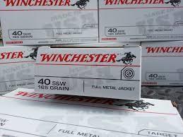 WINCHESTER Ammunition 40 S&W 165 GR. FMJ 50RND