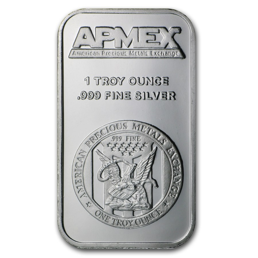APMEX Silver Bullion 1 OZ SILVER BAR .999