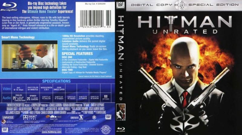 BLU-RAY MOVIE Blu-Ray HITMAN UNRATED