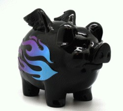 FANTASY GIFTS 2582 FLAME PIGGY BANK