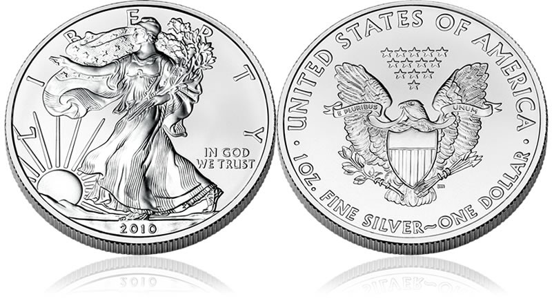 UNITED STATES Silver Coin 2010 WALKING LIBERTY