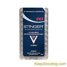 CCI AMMO Ammunition 0050 22LR STINGER