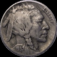 UNITED STATES Coin 1937 D BUFFALO NICKEL