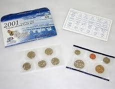 UNITED STATES  MINT 2001 UNCIRCULATED COIN SET PHILADELPHIA