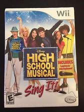 NINTENDO Wii Game HIGH SCHOOL MUSICAL SING IT