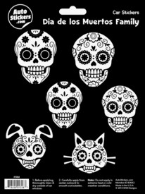 FANTASY GIFTS 2594 DAY OF THE DEAD FAMILY CAR STICERS