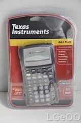 TEXAS INSTRUMENTS Calculator TEXAS INSTRUMENTS BA II PLUS PROFESSIONAL CALCULAT