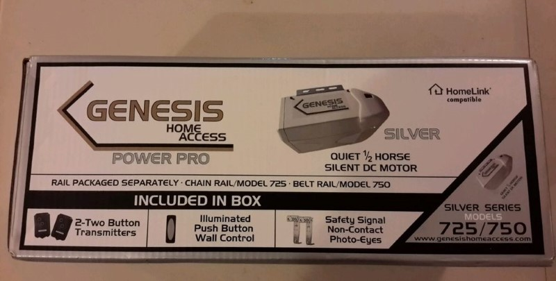GENESIS HOME ACCESS Shop Equipment SILVER SERIES 725/750