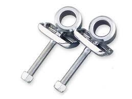 BIKERS CHOICE Motorcycle Part 490006 CHROME AXEL ADJUSTERS 73-86 FL, FX