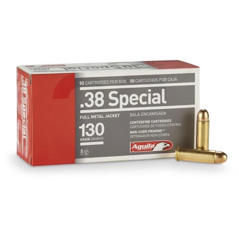 AGUILA AMMUNITION Ammunition .38 SPECIAL 130 GR FMJ
