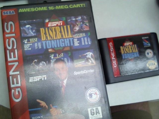 SEGA Nintendo SNES Game ESPN BASEBALL TONIGHT