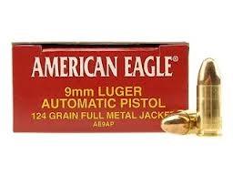FEDERAL AMMUNITION Ammunition AMERICAN EAGLE 9 MM LUGER 115GR FMJ