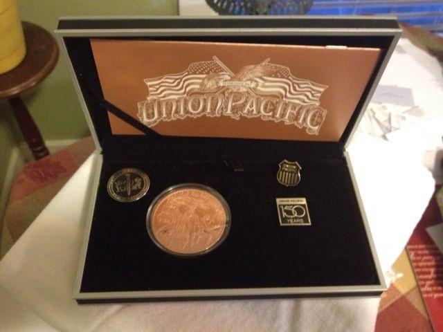 UNION PACIFIC Coin 150 YEAR COMMEMORATIVE COIN