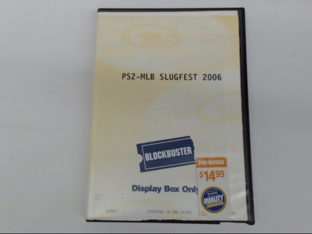 SONY Sony PlayStation 2 PS2 MLB SLUGFEST 2006