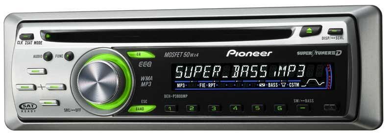 PIONEER ELECTRONICS Car Audio DEH-P3800MP