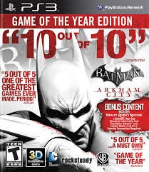 SONY Sony PlayStation 3 Game BATMAN ARKHAM CITY GAME OF THE YEAR PS3