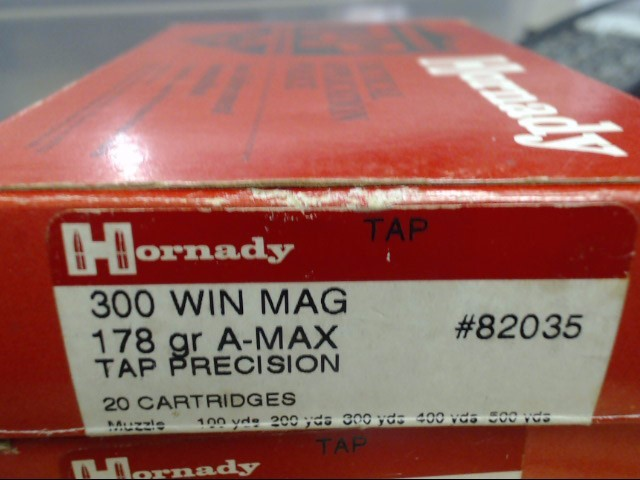 HORNADY Ammunition 300WIN MAG 178GR A-MAX