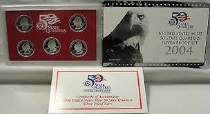 UNITED STATES Mint Set MINT 50 STATE QUARTERS SILVER PROOF SET