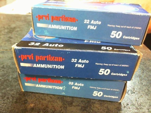 PPU AMMUNITION Ammunition 32 AUTO
