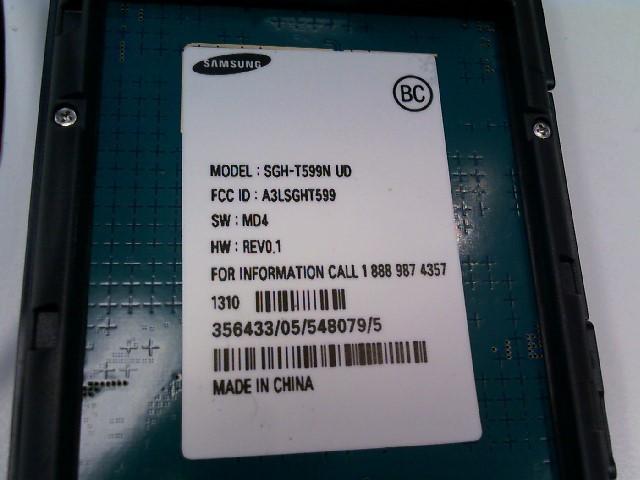SAMSUNG Cell Phone/Smart Phone SGH-T599N