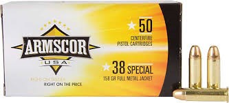 ARMSCOR Ammunition 38 SPECIAL FMJ