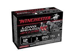 "WINCHESTER Ammunition LONG BEARD 12GA 3"" 1 3/4OZ #6"