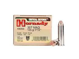 HORNADY Ammunition #90500 357 MAG 125 GRN 25RND