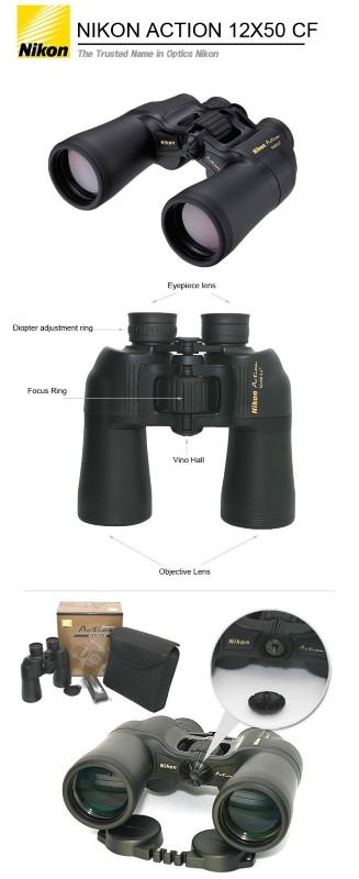 NIKON Binocular/Scope ACTION LOOKOUT 3 10X50 6.0 DEGREE