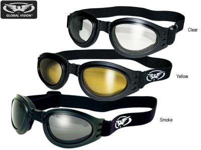 GLOBAL VISION EYEWEAR S ADVENT AST FOLDABLE GOGGLE