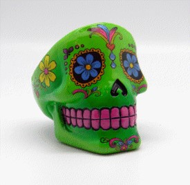 FANTASY GIFTS 2464 GREEN DAY OF THE DEAD ASHTRAY