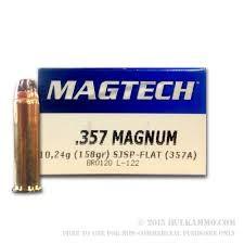 MAGTECH Ammunition .357 MAG 158 GR SJSP